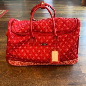 Vera Bradley Rolling Duffel Carry On Travel Bag